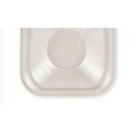 """Assiette Plastique PP """"X-Table"""" Carré Perle 230mm (120 Utés)"""