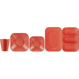"Assiette Plastique PP ""X-Table"" Orange 180mm (120 Utés)"