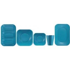 """Assiette Plastique PP """"X-Table"""" Turquoise 180mm (8 Utés)"""
