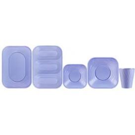 """Plateau Plastique PP """"X-Table"""" Violet 330x230mm (2 Utés)"""