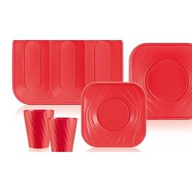 """Plateau Plastique PP """"X-Table"""" 3C Rouge 330x230mm (30 Utés)"""