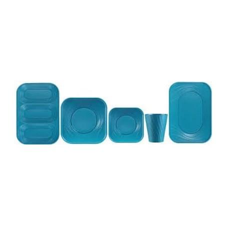 """Plateau Plastique PP """"X-Table"""" 3C Turquoise 330x230mm (30 Unités)"""