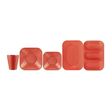 """Plateau Plastique PP """"X-Table"""" 3C Orange 330x230mm (2 Unités)"""