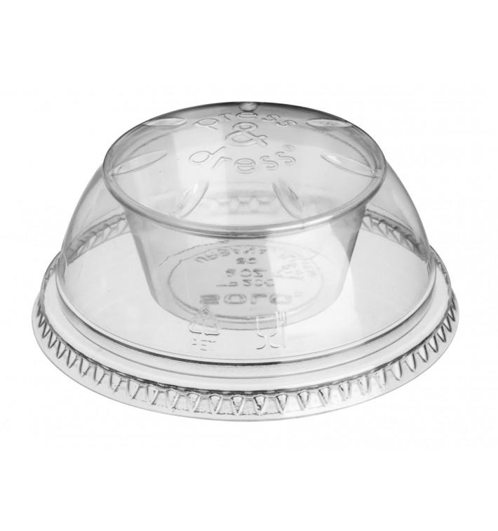 """Dôme avec Coupe PET Cristal """"Press&Dress"""" Ø9,2cm (50 Utés)"""