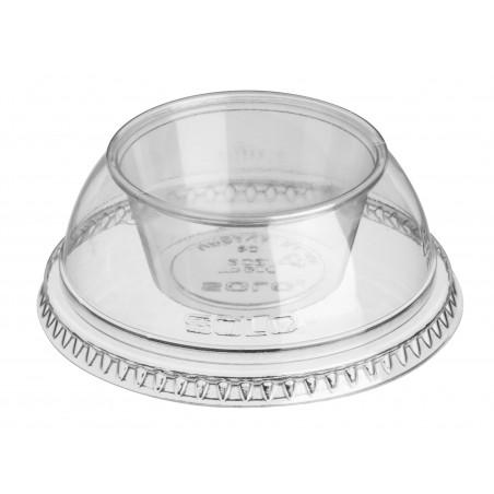 """Dôme avec Coupe PET Cristal """"Dress"""" Ø9,2cm (500 Utés)"""