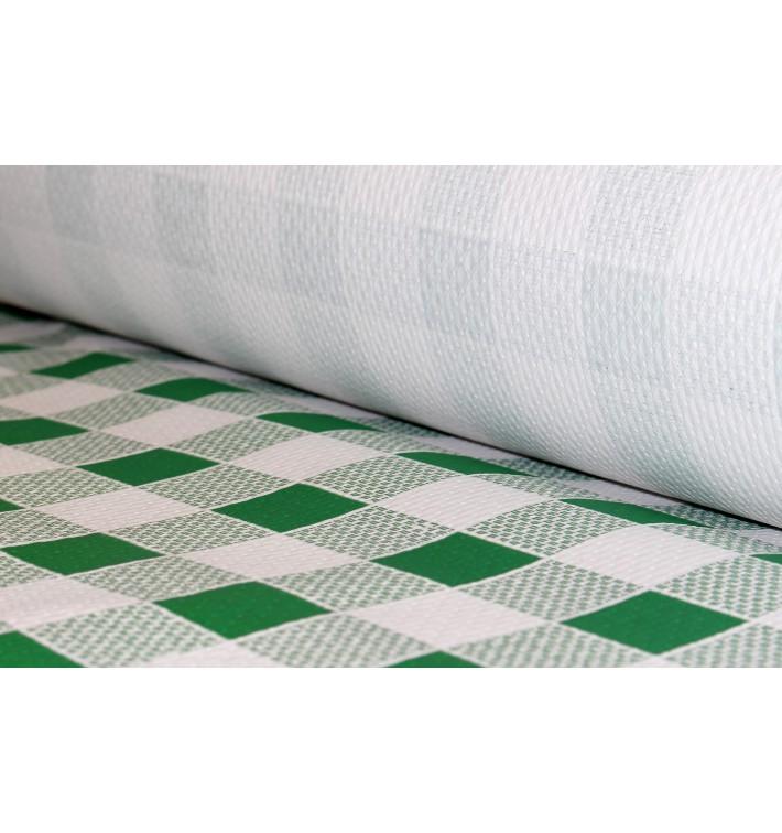 Nappe en papier en Rouleau Carré vert 1x100m 40g (6 Unités)