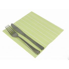 """Serviette en papier molletonnée """"Basic Pistache"""" 40x40cm (50 Unités)"""