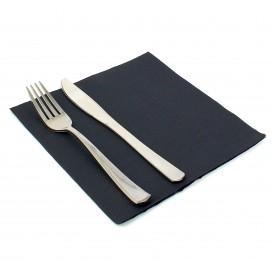 Serviette Papier Noir 2E Molletonnée 33x33cm (50 Unités)