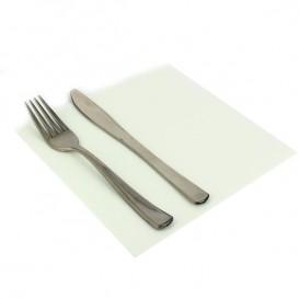 Serviette Papier Blanc 2E Molletonnée 33x33cm (50 Unités)