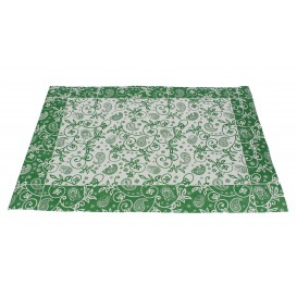 "Set de Table papier 30x40cm ""Cachemire"" Vert 50g (500 Utés)"