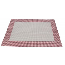 "Set de Table 30x40 ""Patte d'Oie"" Bord. 50g (500 Utés)"