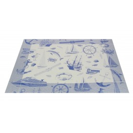 """Set de Table papier 30x40cm """"Marin"""" Bleu 50g (500 Utés)"""