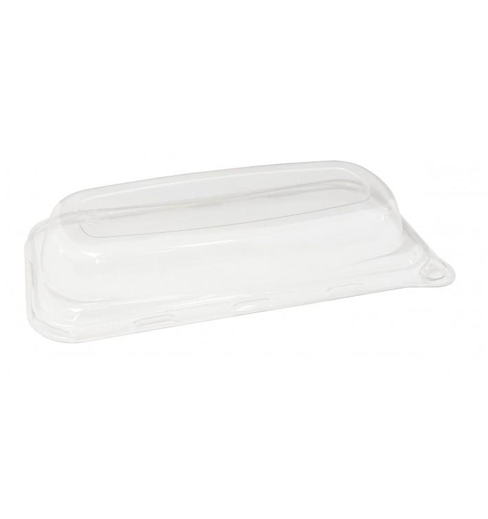 Couvercle Plastique pour Plateau Canne à Sucre 20x10cm (50 Utés)