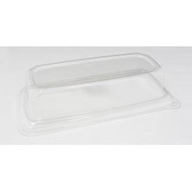 Couvercle Plastique pour Plateau Canne à Sucre 24x11cm (50 Utés)
