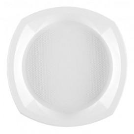 Assiette Plastique PS Carrée Blanc 230x230mm 1C (1000 Unités)