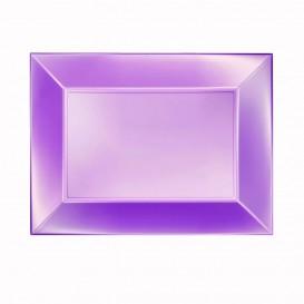 Plateau Plastique Violet Nice Pearl PP 280x190mm (12 Utés)