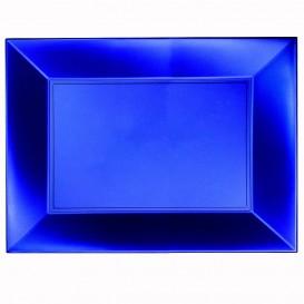Plateau Plastique Bleu Nice Pearl PP 345x230mm (6 Utés)