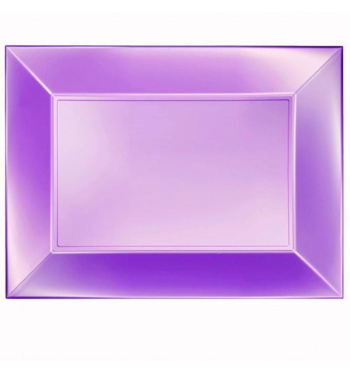 Plateau Plastique Violet Nice Pearl PP 345x230mm (6 Utés)