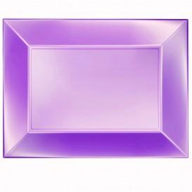 Plateau Plastique Violet Nice Pearl PP 345x230mm (60 Utés)