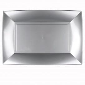 Plateau Plastique Gris Nice PP 345x230mm (6 Utés)