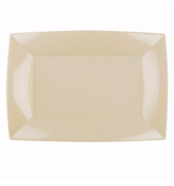 Plateau Plastique Crème Nice PP 345x230mm (60 Utés)