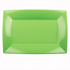 Plateau Plastique Vert citron Nice PP 345x230mm (6 Utés)