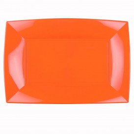 Plateau Plastique Orange Nice PP 345x230mm (60 Utés)