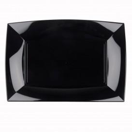 Plateau Plastique Noir Nice PP 345x230mm (30 Utés)