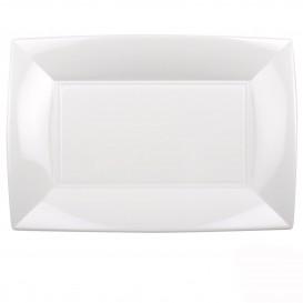 Plateau Plastique Blanc Nice PP 345x230mm (6 Utés)