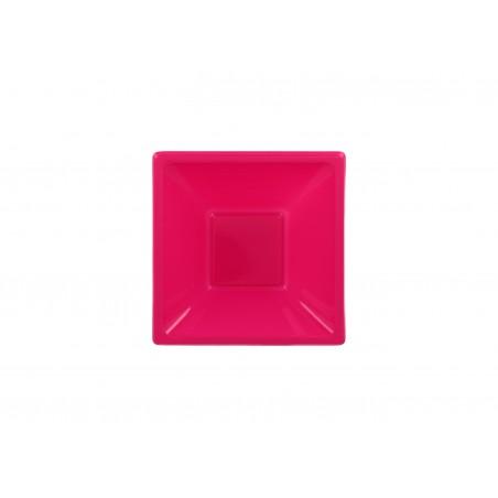 Bol carré en plastique Fuchsia 120x120x40mm (12 Utés)