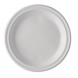 Assiette Plastique PS 1 Compartiment 220mm (100 Unités)