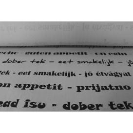 """Nappe papier en ROULEAU """"Bon Appétit"""" Blanc 1,2x100m 37g (1 Uté)"""