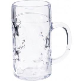 Pichet Plastique pour Bière Transp. Ø105mm 1000ml (6 Utés)