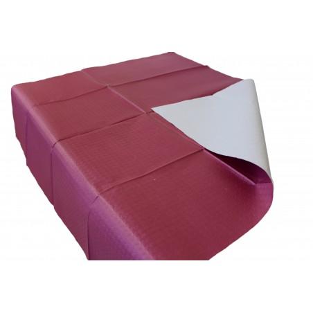 Nappe en papier 100x100 Bordeaux 40g (400 Unités)