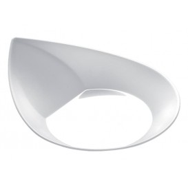 """Assiette Dégustation """"Smart"""" Blanc 8,6x7,1 cm (500 Utés)"""