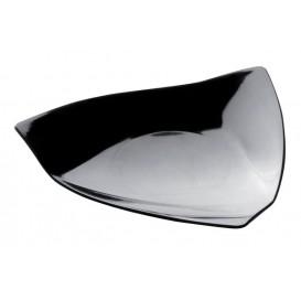 """Assiette Dégustation """"Voile"""" Noir 8,5x8,5 cm (500 Utés)"""