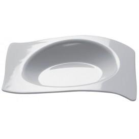 Assiette Dégustation Flat Blanc 8x6,6 cm (500 Utés)