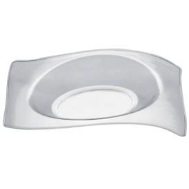 Assiette Dégustation Flat Transp. 8x6,6 cm (50 Utés)