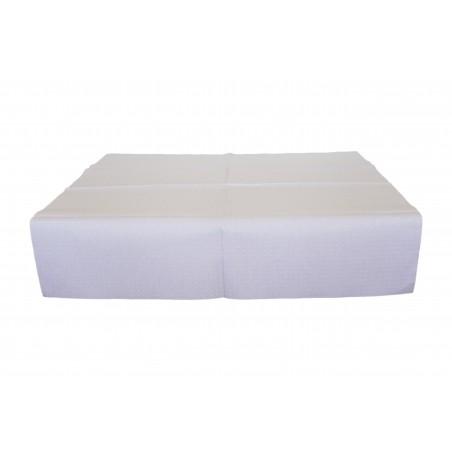 Nappe en papier 100x100cm Blanc 40g (480 Unités)