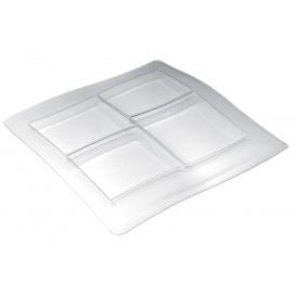 """Plateau Plastique """"FoodPoker"""" 4C 360x360 mm (1 Uté)"""