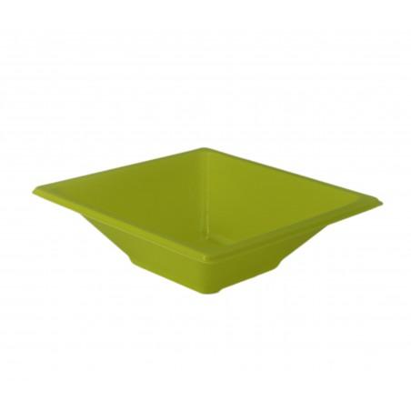 Bol carré en plastique Pistache 120x120x40mm (12 Utés)