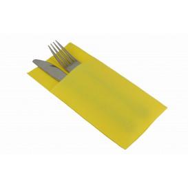 Serviette Kangourou en Papier Jaune 40x40cm (30 Unités)