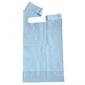 Bavoir Adulte avec poche Bleu 36x65cm (500 Utés)
