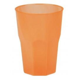 """Verre Plastique """"Frost"""" Orange PP 350ml (20 Unités)"""