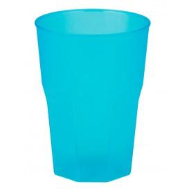 """Verre Plastique """"Frost"""" Turquoise PP 350ml (20 Unités)"""