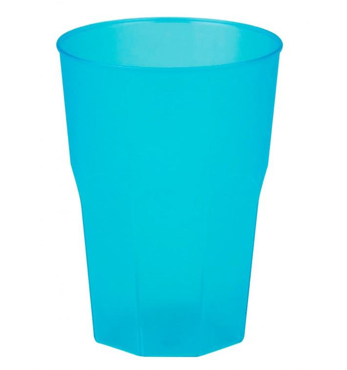 """Verre Plastique """"Frost"""" Turquoise PP 350ml (420 Unités)"""