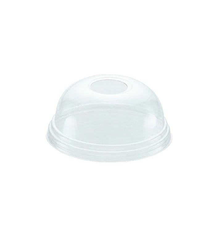 Couvercle Dôme Perforé PET Cristal Ø8,1cm (100 Unités)