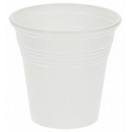 Gobelet Plastique Expresso Blanc 80ml PP (50 Unités)