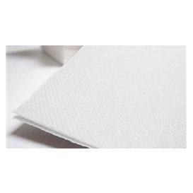 Serviette Papier Molletonnée 40x40 Blanc (50 Unités)