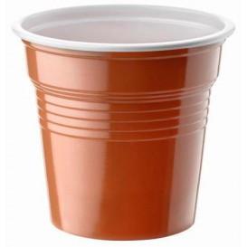 Gobelet Plastique PS Bicolore Marron 80ml Ø5,7cm (50 Utés)